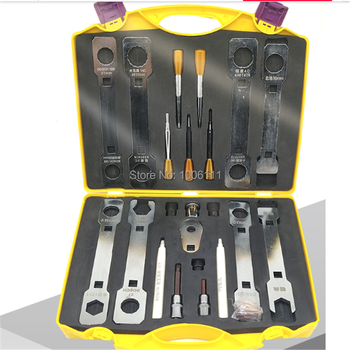 FOR BOSCH DENSO CAT CUMMINS Diesel Common Rail Injector Electromagnetic Valve Dismounting Remove Wrench Tool Sets