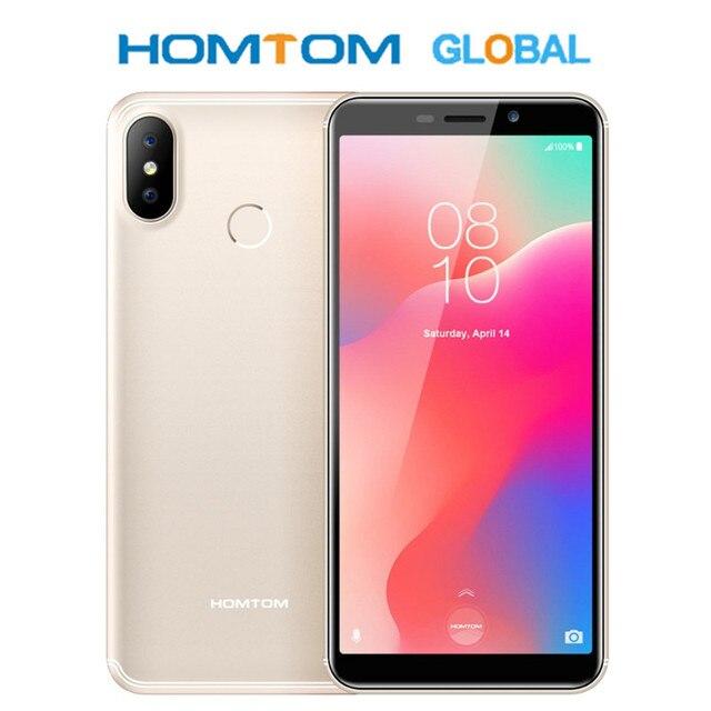 هاتف ذكي من HOMTOM C1 بشاشة 5.5 بوصة 18:9 بشاشة عرض كاملة رباعية النواة MT6580A بذاكرة وصول عشوائي 1 جيجابايت وذاكرة قراءة فقط 16 جيجابايت بشريحتين وبصمة وجه وبطارية بقدرة 13 ميجابكسل وبطارية 3000 مللي أمبير في الساعة