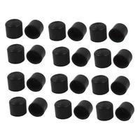 24 Pcs Móveis Rodada Pé Capa Protector 30mm Inner Dia PVC|  -