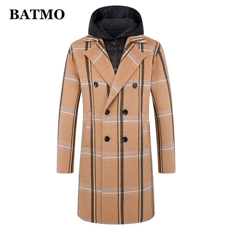 BATMO 2019 New Arrival Autumn&winter 100% Wool Jackets Men,men's Wool Coat,plus-size M-5XL FND915