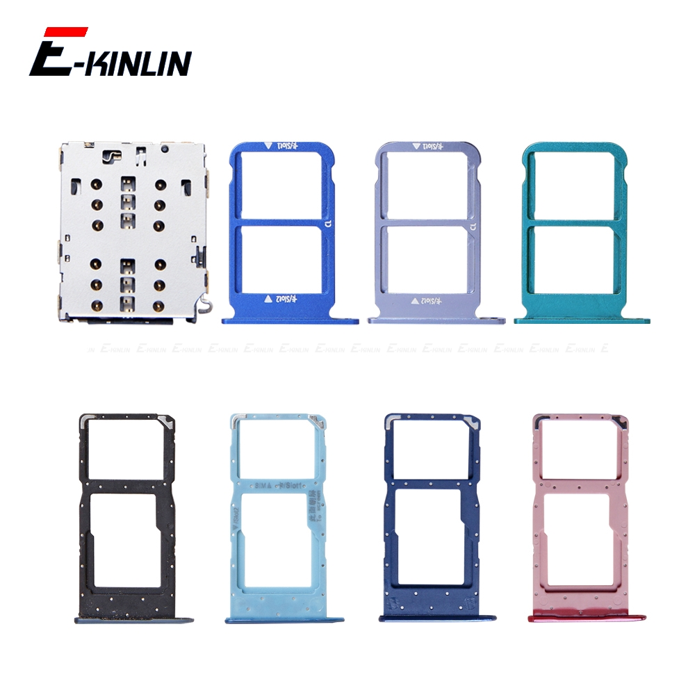 Sim Card / Micro SD Card Tray Socket Holder Slot Container Connector Adapter Reader For HuaWei Honor View 10 Lite 10i
