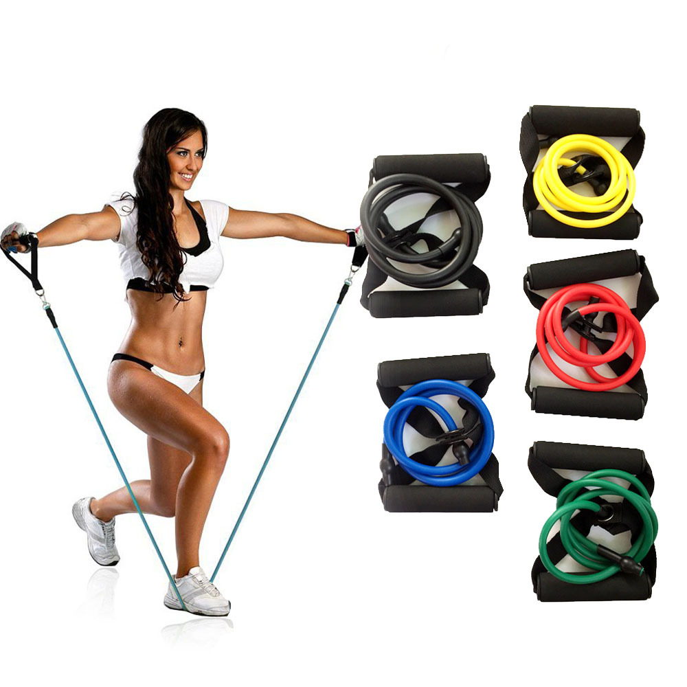 Yoga Pull Rope Fitness Rubber Muscle Fitness Equipment Expansion Container Sports Tube Training Healthy Elastic Band 120cm