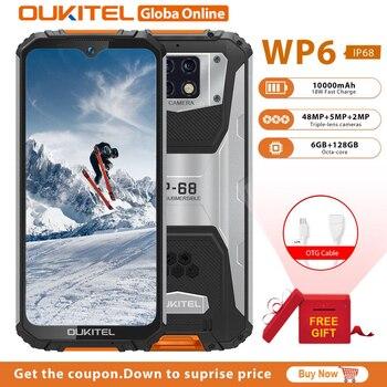 OUKITEL WP6 смартфон 6 ГБ ОЗУ 128 Гб ПЗУ 6,3 дюйма Восьмиядерный IP68 Водонепроницаемый 9 В/2A 10000 мАч аккумулятор 48MP Тройная камера мобильный телефон