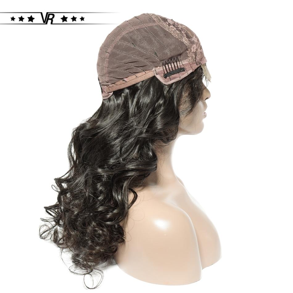 VR Human Hair Wigs Lace Front Wig 4x4 Brazilian Virgin Hair 130-200 Density Bleach Knots