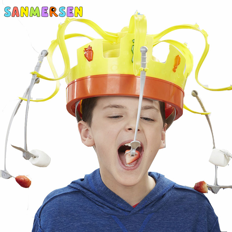 Family Party Game Crown Food Hat Trick Toy Chow Crown Funny Tidy Eat The Food With Revolving Party For Kids Christmas Games