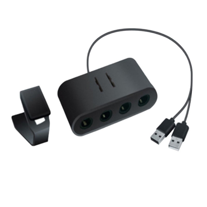 cheapest 2019 New for Smash   Brothers   GameCube   PC   Switch   Wii U 3-in-1 4-Port USB For Game Cube Controller Adapter