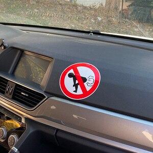 Image 4 - YJZT 12CM * 12CM hiçbir osuruk araba Sticker komik eşek PVC çıkartması 12 0808