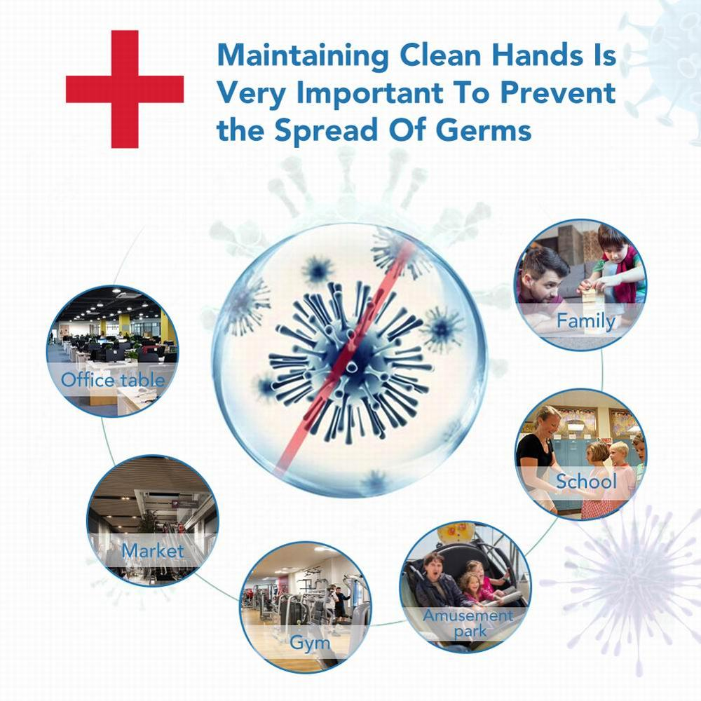 60ml 100ML Anti Bacterial Disposable Hand Sanitizer 75% Alcohol Hand Disinfection Gel Finse Free Gentle Hand Gel For Kids Adults