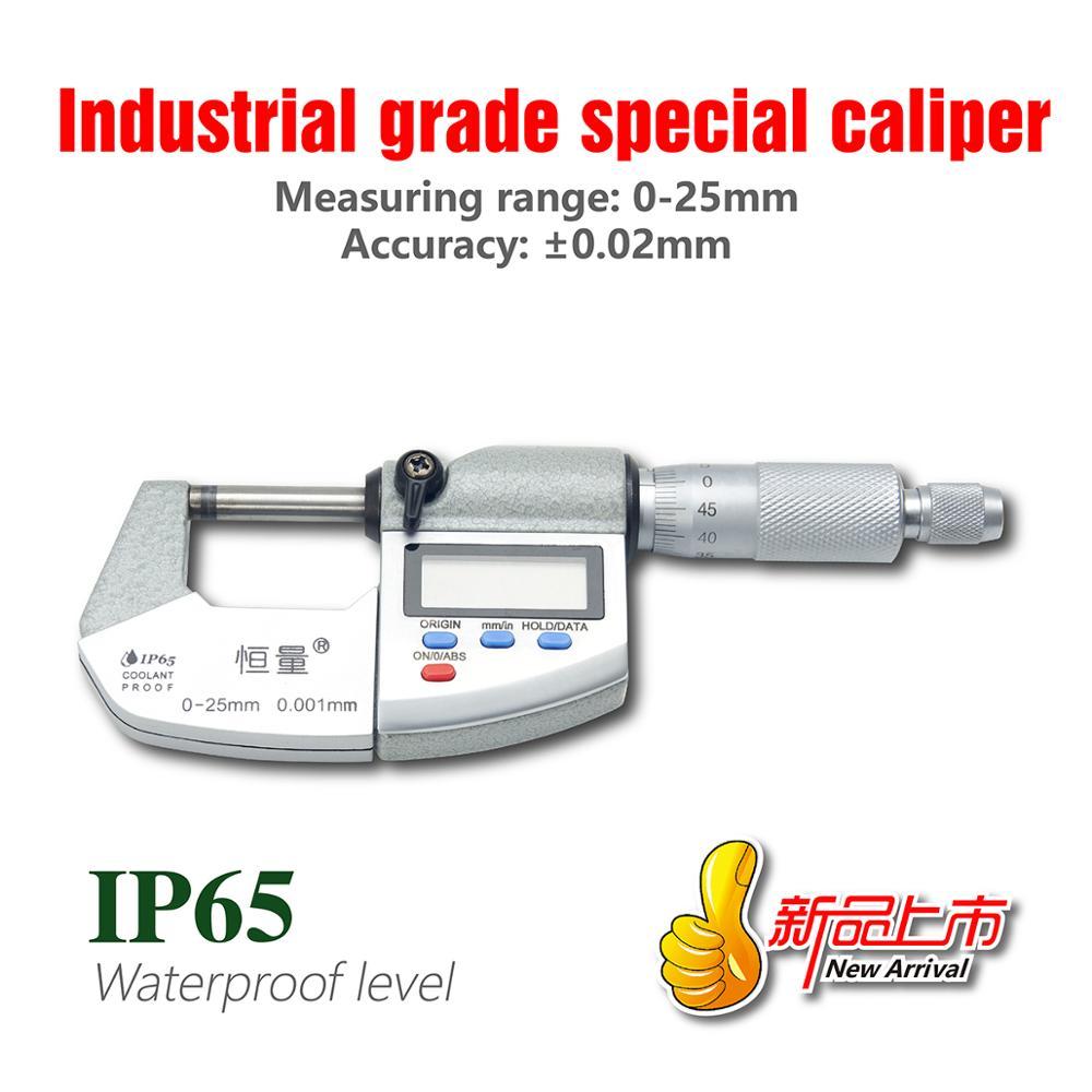 IP65 Водонепроницаемый цифровой микрометр высокопрочный внешний микрометр из нержавеющей стали 0-25 мм 25-50 мм 50-75 мм 75-100 мм