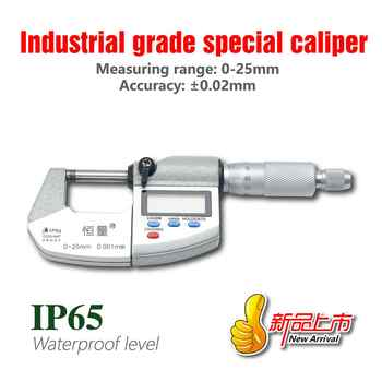IP65 Waterproof Digital Micrometer High-Strength Stainless Steel Outside Micrometer 0-25MM 25-50MM 50-75MM 75-100MM - DISCOUNT ITEM  35 OFF All Category
