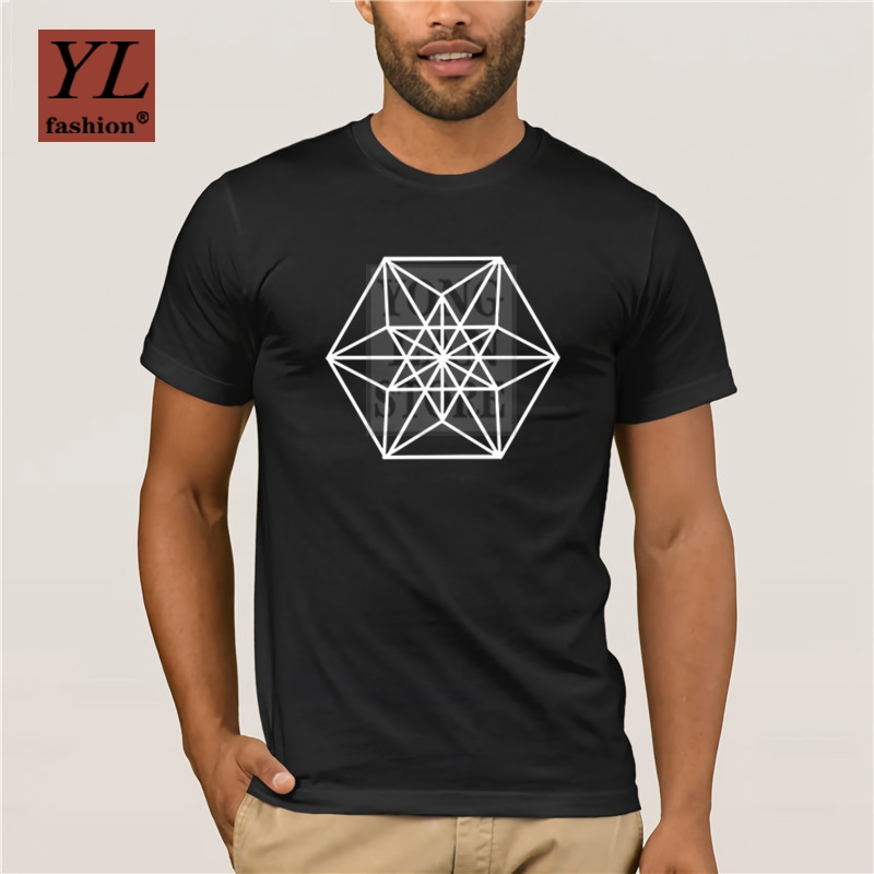 2020 Fashion HAVE BOY Letters Graphic Art Men T Shirt Sacred Geometry Minimal Goth Chakra Symbol Tshirt Fashion