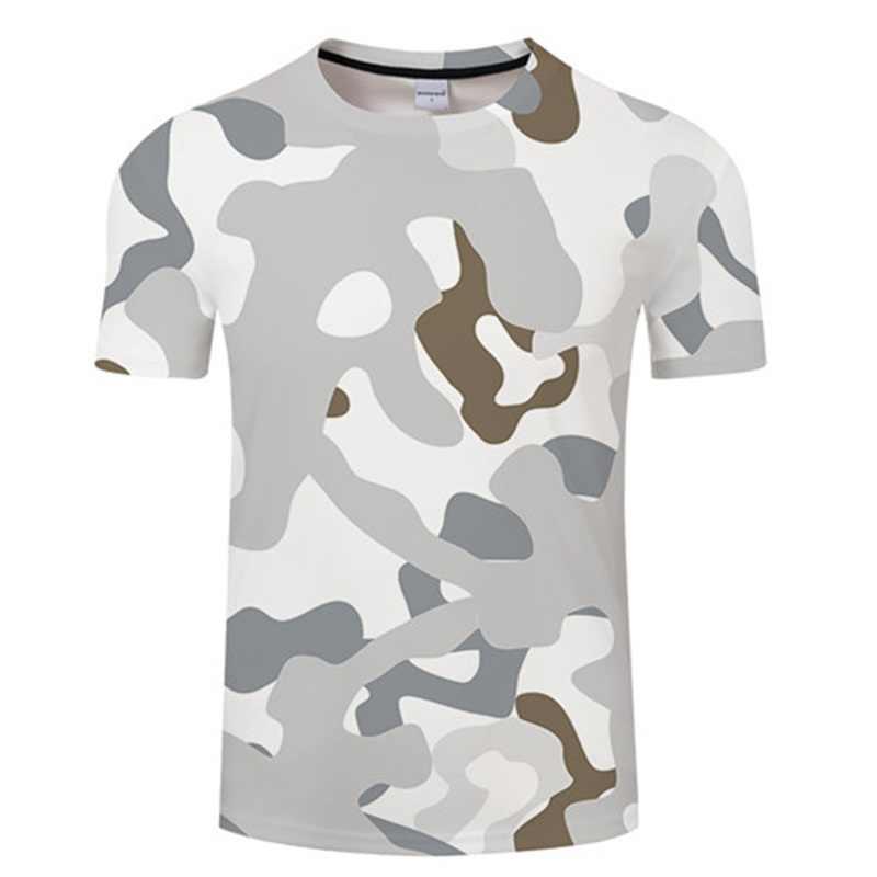 Camouflage Stil T-shirt 3D T-shirts Top Gedruckt Wasser Welligkeit männer Kurzarm Sommer Neue männer Tops Beiläufige Lose kleidung