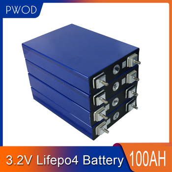 PWOD Brand NEW 16PCS Cell 3.2V 100AH Lifepo4 Battery 48V100AH 24V200AH 12V400AH Cell Packs Deep Cycle For Electric Bicycle Boat