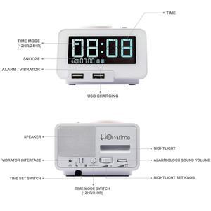 Image 2 - Homtime רטט רמקולים שייקר בס USB חרשים מיטת שייקר מעורר רמקול שולחן שעון הישנים הכבד החרשים הפרעה