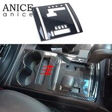 Cubierta de Panel de cambio de marchas para coche, color de fibra de carbono, compatible con Mitsubishi PAJERO, lado izquierdo