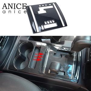 Image 1 - פחמן סיבי צבע אוטומטי פנימי Gear Shift פנל כיסוי fit עבור מיצובישי פאג רו שמאל יד צד