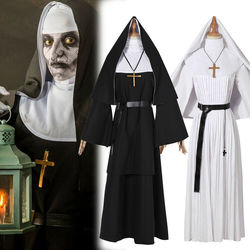 The Nun Cosplay Costume Halloween Costume for Women The Conjuring Cosplay Long Dress Adult Horror Ghost Costume
