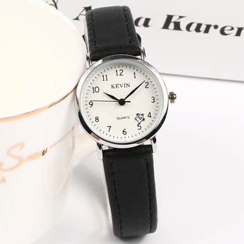KEVIN Brand Fashion Ladies Watches New Arrival Simple Casual Women Watch Men Leather Quartz Wristwatch For Lovers Gift Clock