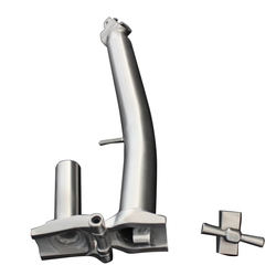 S Stem Voor Brompton Voor 25.4Mm Handbar Titanium Stem Voor Brompton Vouwfiets Balhoofdbuis S Stuur Licht Gewicht titanium Bi-in Fiets Handvaten van sport & Entertainment op