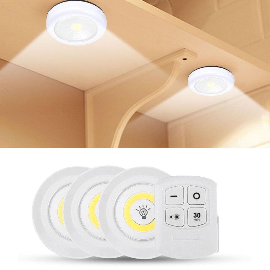 Светодиодный ночсветильник с беспроводным дистанционным управлением, суперъяркий COB светсветильник льник для шкафа с регулируемой яркост...