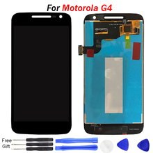 купить For Motorola Moto G4 LCD Display Touch Screen Digitizer Assembly For MOTO G4 Screen Replacement Parts XT1622 xt1625 LCD дешево