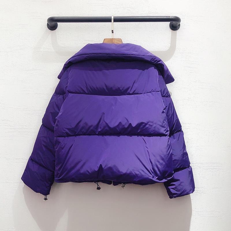 Femmes veste hiver chaud épais veste manteau 2020 femme court vestes décontracté - 5