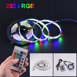 LED Strip Light 1M 2M 3M LED lamp tape  Ribbon RGB USB 2835SMD DC5V  usb strip RGB 4M 5M TV Desktop Screen BackLight Diode Tape