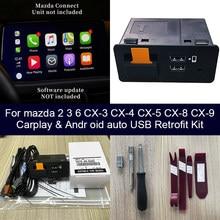 Adaptateur USB pour Mazda 3, Mazda 6, Mazda 2, CX30, CX5, CX8, CX9, MX5, Android Auto, Apple CarPlay