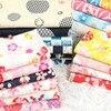 Half Meter Slub Cotton Fabric Soft Breeze Dragon Fish Flower Print Handmade DIY Bag Garment Dress Cloth 100% Cotton CR-538