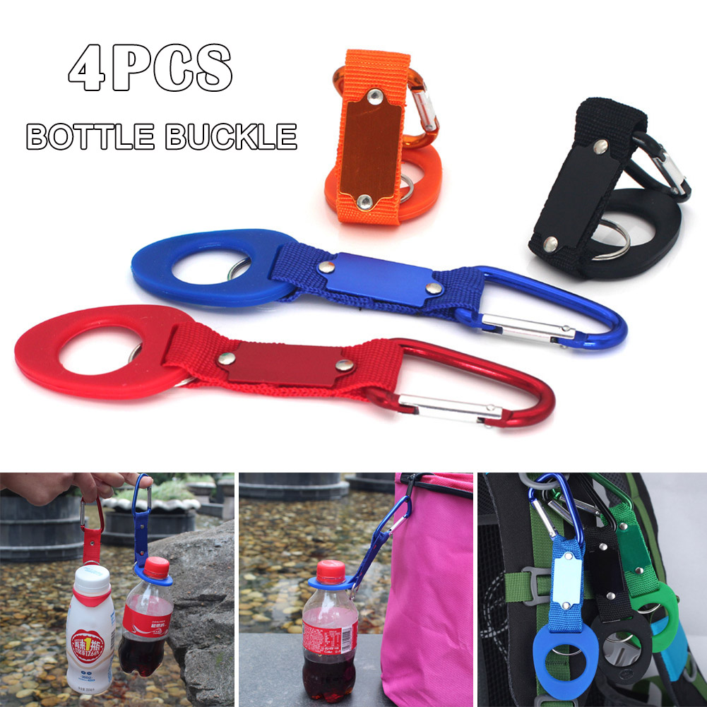 4 Pcs Camping  Water Bottle Buckle Hook Holder Clip For Outdoor Tools