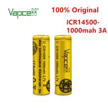 Vapcell oryginalny mini bateria litowa 3.7 v ICR 14500 bateria 1000mah 3A PK 14500p do latarki darmowa wysyłka