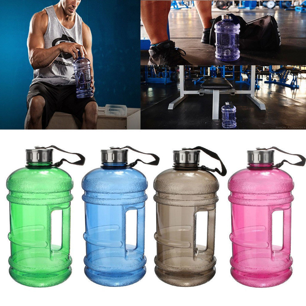 2.2L Big BPA Free Drink Water Bottle Cap Kettle Sport Gym Training Workout US