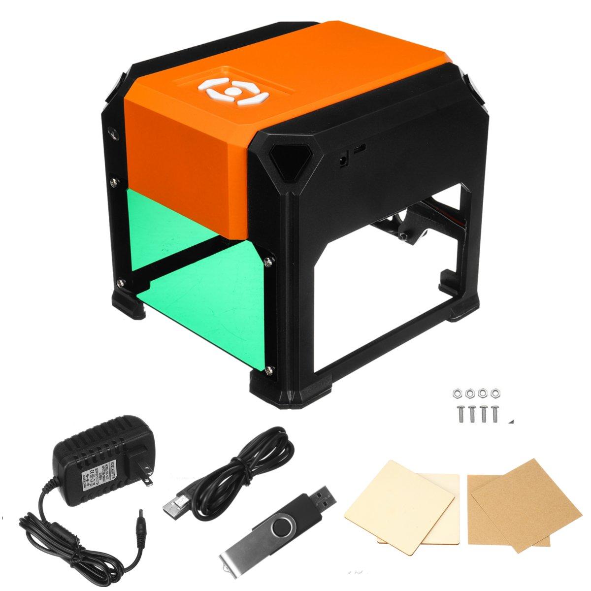 3000mW USB Bluetooth Control Desktop Laser Engraving Machine DIY Logo Mark Printer Cutter CNC Laser Carving Machine 110-220V