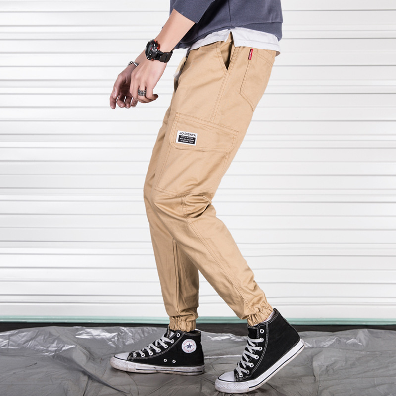 Spring MEN'S Overalls Korean-style Trend Casual Trousers Students Loose-Fit Versatile Popular Brand Men Ankle Banded Pants