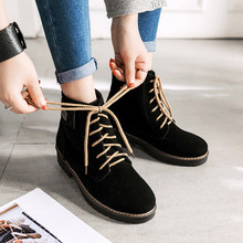 Casual non-slip women boots flat bottom boots female boots lace flat with women shoes tide shoes sewing thread hot sale 35-43 cheap SAGACE Over-the-Knee Patchwork Women s Boots Square heel Basic Mesh Pointed Toe Spring Autumn Med (3cm-5cm) Slip-On Fits true to size take your normal size
