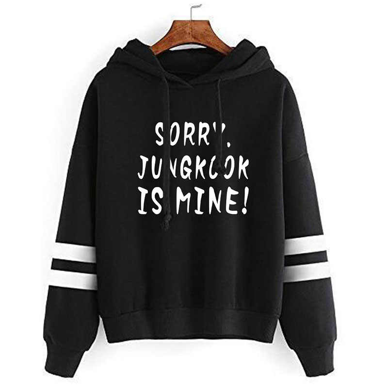 2019 SORRY JUNGKOOK IS MINE Peripheral printing Hooded Sweatshirt woman Bulletproof youth league Hoodie womens clothes pullover