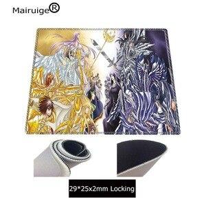 Image 4 - Yuzuoand Big PromotionCustom Skin Saint Seiya Game or Office Mousepad Non slip Seaming Mousepad Large Size Washable Mouse Pad
