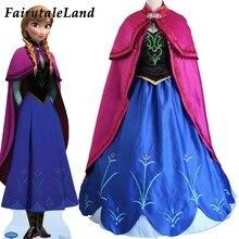 王女アンナエルザプリンセスドレス王女アンナ衣装大人雪成長王女アンナコスプレ衣装ハロウィーンの女性