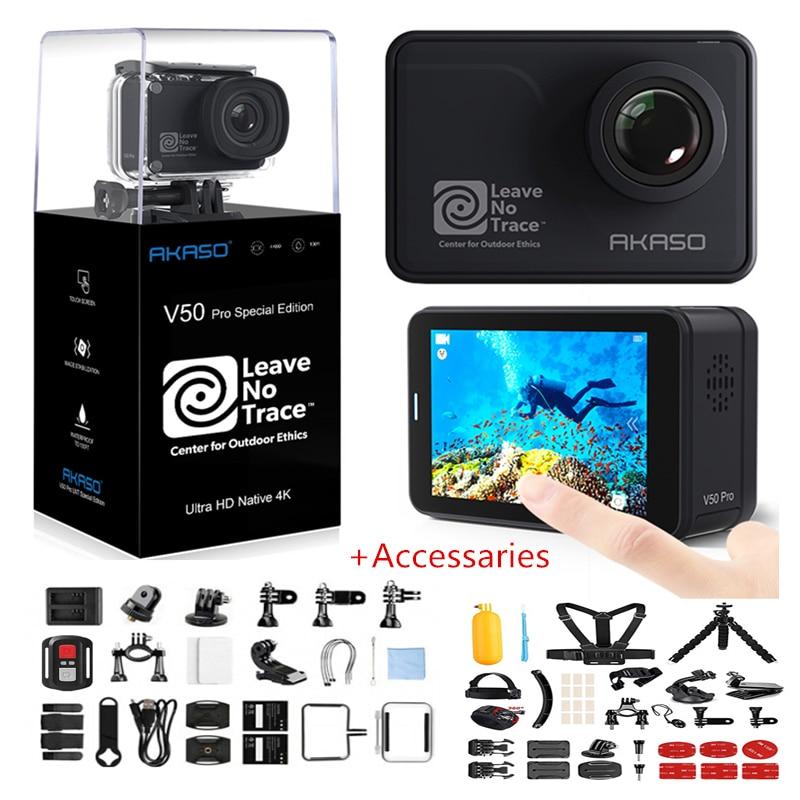 AKASO-Cámara de acción V50 Pro SE, cámara deportiva con pantalla táctil, Fondo de Acceso, edición especial, 4K, impermeable, WiFi, Control remoto