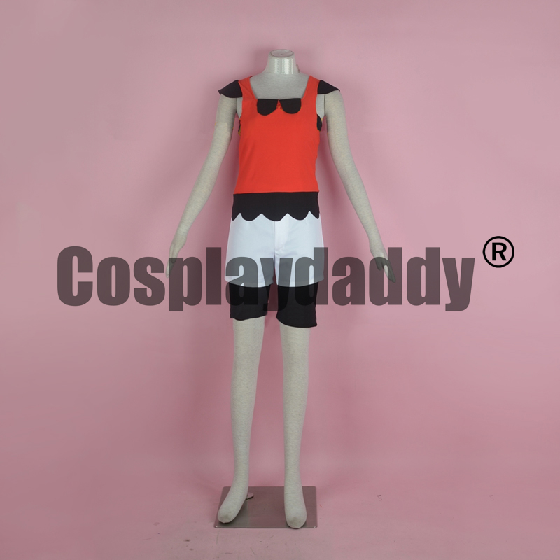 Pokemon Pocket Monsters Omega Ruby and Alpha Sapphire Trainer May Haruka Outfit Game Cosplay Costume F006 image