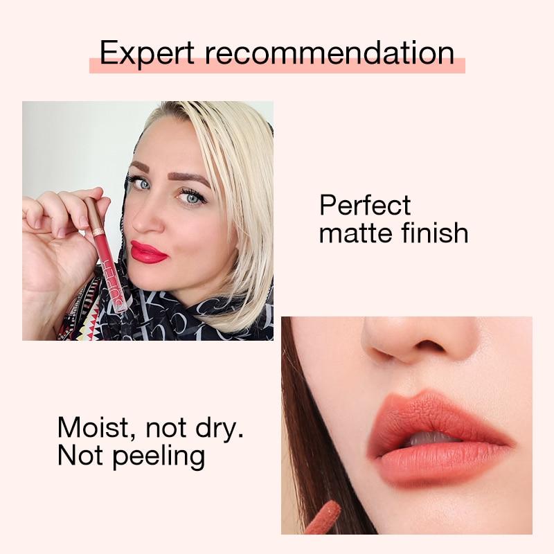 O.TWO.O Liquid Lipstick Matte Lip Gloss Cosmetic Lightweight Lip Glaze Long Lasting Lip Tint  Waterproof 12 Color Lips Makeup 6
