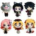 20 см демон убийца: Kimetsu без Yaiba Плюшевые игрушки Аниме Plushie Rengoku Shinjurou плюшевые куклы игрушки подушки детские подарки на день рождения