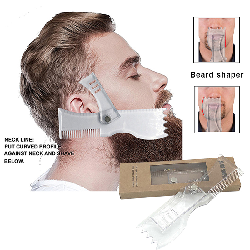 Multifunctional Men's Beard Trim Templates Styling With Integrated Comb Beard Shaping & Styling Tool Trim Models Styling Tool