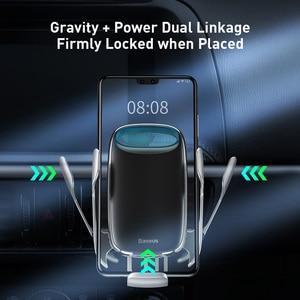 Image 5 - Baseus titular do telefone do carro para o iphone 11 pro max 15w qi carregador sem fio para xiaomi redmi nota 8 pro rápido suporte de carregamento sem fio
