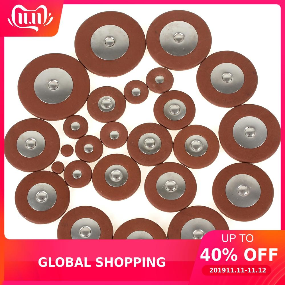 25pcs Professional Leather Tenor Saxophone Pads Orange Sax Pads Replacement Woodwind Musical Instruments Parts & Accessories