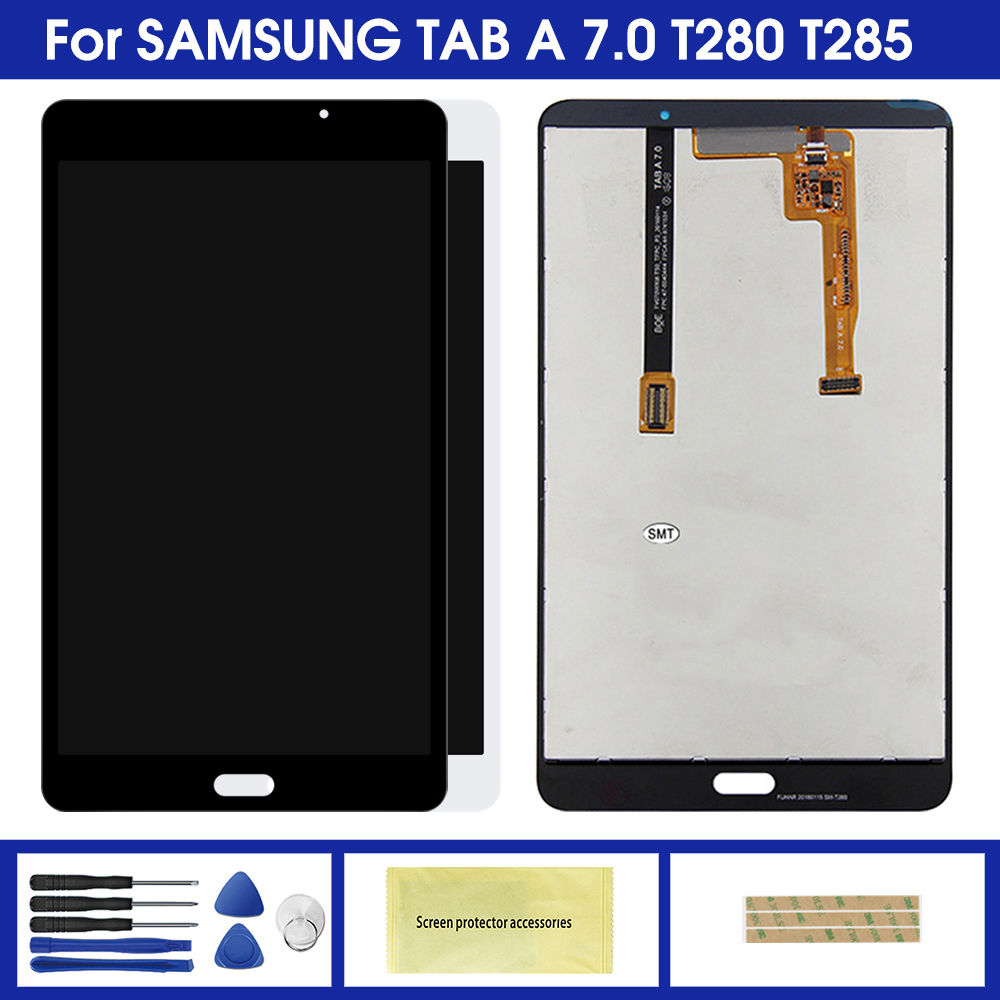 LCD For Samsung Galaxy Tab A 7.0 T280 T285 LCD Display Monitor + Touch Panel Screen Glass Digitizer Assembly Replacement Parts