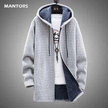 Men Sweater Fleece Cardigan Winter Jacket Men's Slim Sweaters Winter Long Hooded Sweater Thick Warm Coat 2020 Mens Clothing