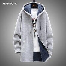 Męski sweter bluza polarowa kurtka zimowa męska wąskie swetry zima długi, z kapturem sweter gruby ciepły płaszcz 2020 odzież męska