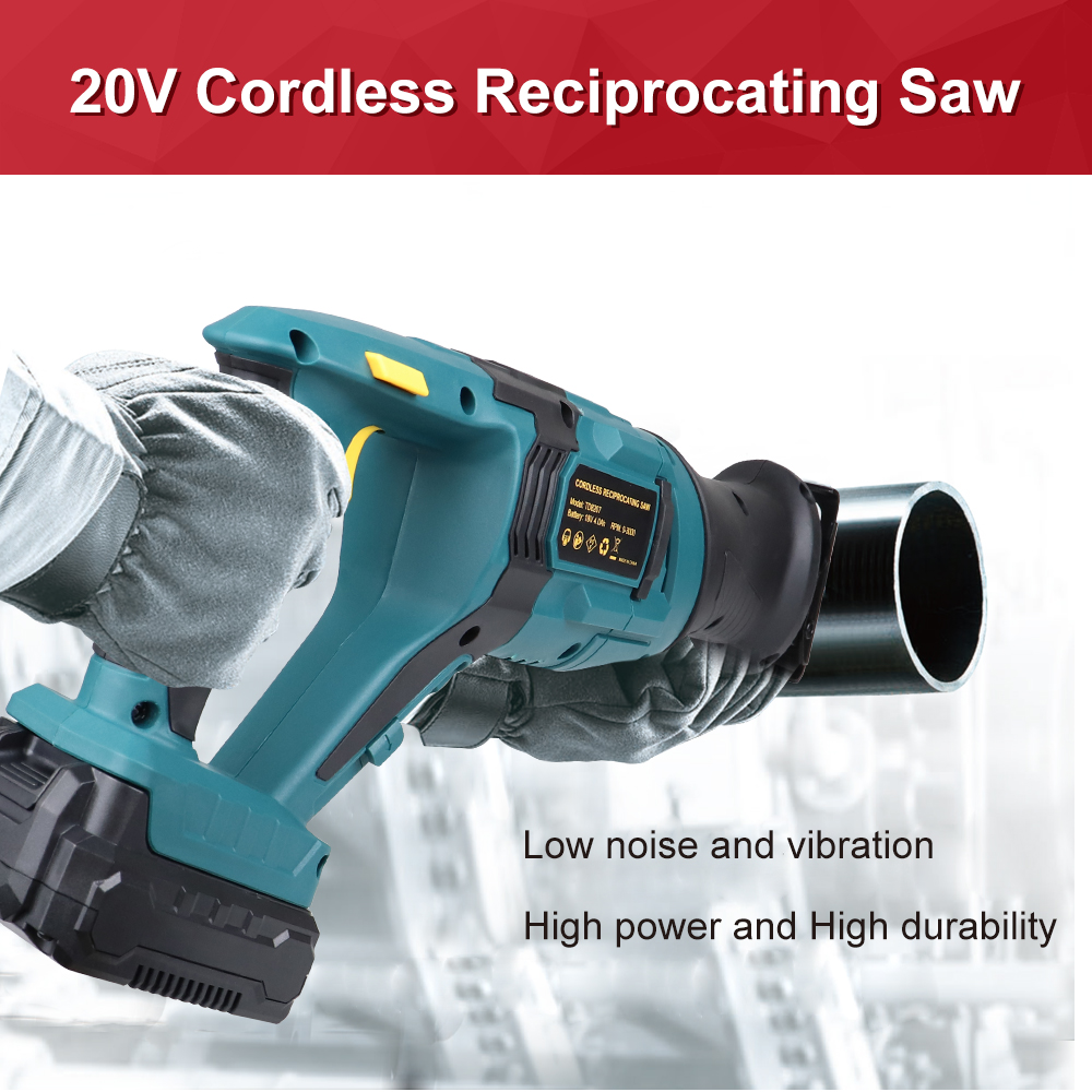 Tools : NEWONE 20V Reciprocating Saw Electric Saw Cordless Power Tool Saber Saw for Wood and Metal Multifunction Hand Saw