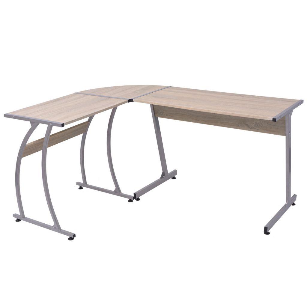 VidaXL Corner Desk L-Shaped Oak